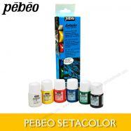 Màu vẽ vải Pebeo set 6x20ml suede (da lộn)