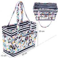 Túi dụng cụ họa tiết hoa & sọc