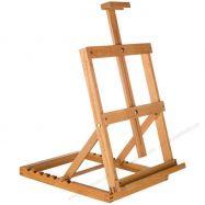 Giá vẽ để bàn gỗ sồi nâng cao thấp size lớn