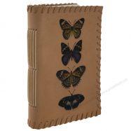 Sổ Sketchbook bìa da in mẫu bướm