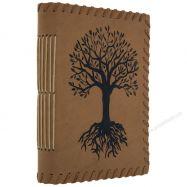 Sổ Sketchbook bìa da in hình cây