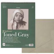 Giấy vẽ Strathmore toned sketch - gray 400SR 11X14