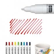 Bút vẽ ly sứ, vẽ gốm sứ, Bút vẽ sứ đỏ nét mỏng