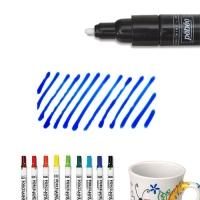 Bút vẽ sứ xanh da trời nét dầy