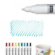 Bút vẽ sứ xanh biển nét mảnh