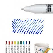 Bút vẽ sứ xanh da trời nét mảnh