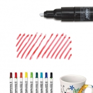 Bút vẽ ly sứ, vẽ gốm sứ, Bút vẽ sứ đỏ nét dầy