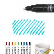 Bút vẽ sứ xanh biển nét dầy