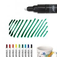 Bút vẽ sứ xanh rêu nét dầy