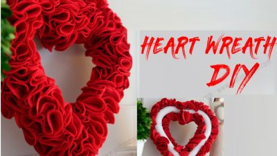 Vòng hoa trái tim cho ngày Valentine