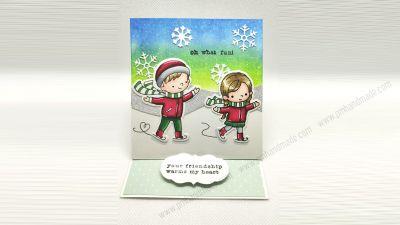 Easel card - Thiệp gập chặn mẫu Giáng Sinh