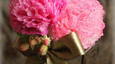 Hướng dẫn làm hoa từ giấy tissue