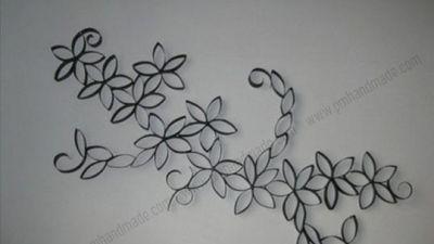 Làm hoa handmade từ lõi giấy vệ sinh